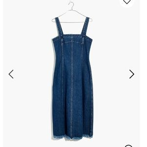 Madewell Raw Hem Seamed Denim Dress